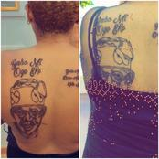Mixed Reactions As Lady Tattooed Bola Ahmed Tinubu's Photo On Her Body