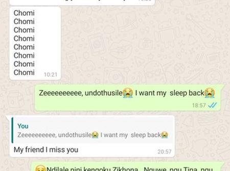 A friend complaints about the conversation he had with his friends. This is when she wanted to sleep