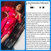 After I Accepted a Man's Request on Facebook, He Started Asking Me For Money To Save His Child -Lady