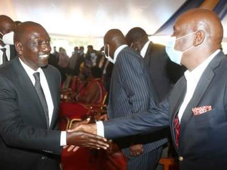 Photo Of DP Ruto Shaking Hands With Gideon Moi As They Met Today Leaves Kenyans Talking