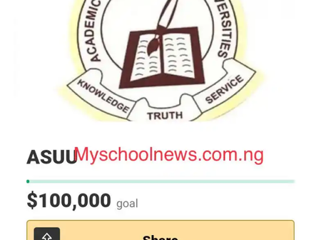 Nigerian students launch $100,000 fund raiser for ASUU as FG fails to meet the Union's demand.