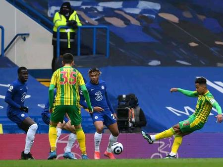 After West Brom Humiliated Chelsea Today, 5 - 2, See Photos Of Chelsea Player In Action