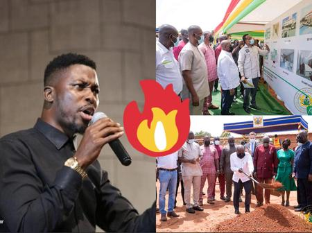 After Akufo Addo Cut The Sod For Construction Of Ghana Award House, Checkout What Kwame A-Plus Said