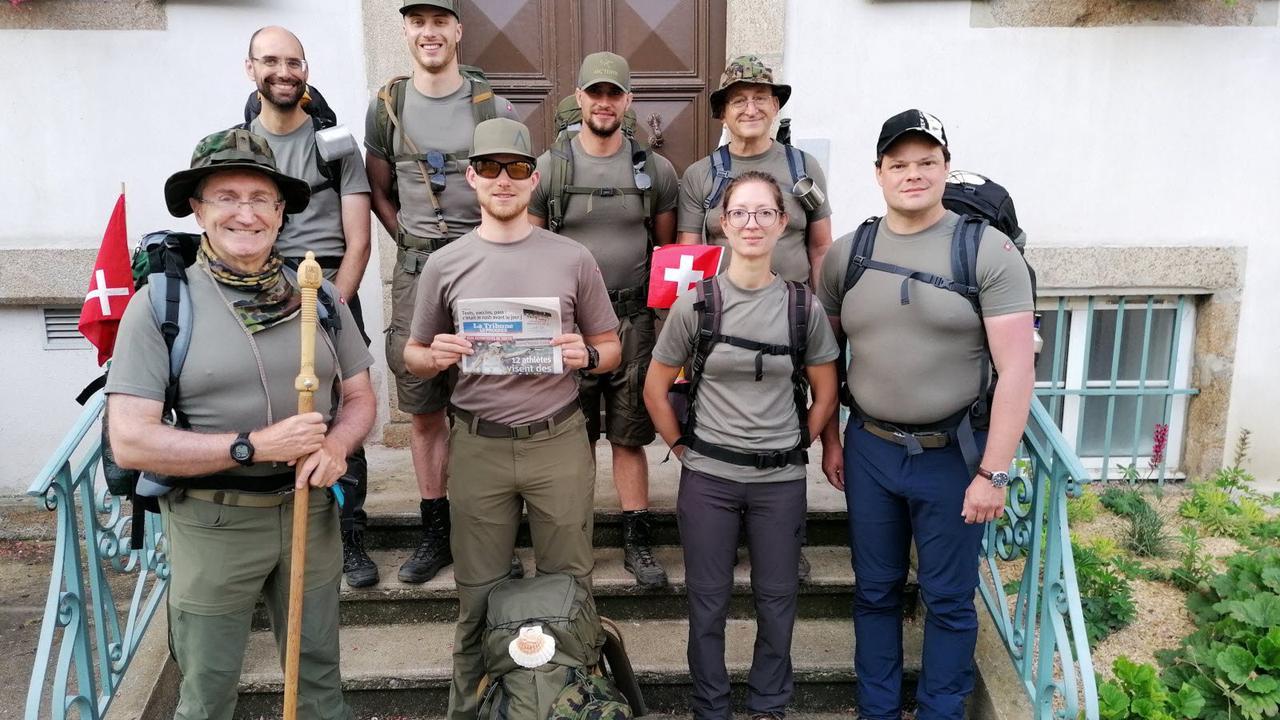 Bourg-Argental L'armée suisse sur le chemin de Saint-Jacques