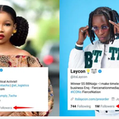 Laycon surpasses Tacha, joins Ebuka to become ex-BBN star with one million followers on Twitter