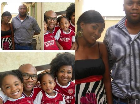 10 Years After They Met Each Other, See Cute Photos Of A Nigerian Actress, Her Husband And Kids