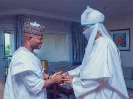 Photos: Emir of Kano, Alhaji Aminu Ado Bayero Receives Governor Yahaya Bello in Abuja.