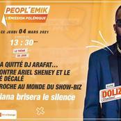 Doliziana recadre des internautes sous le visuel de son invitation de Peopl'Emik
