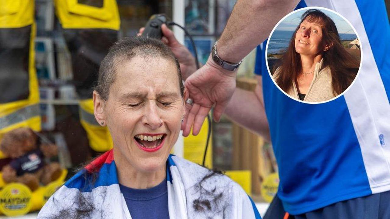 Vet says goodbye to long hair to boost Dunbar RNLI