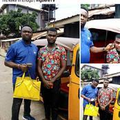 Reactions As Keke Rider Returns Bag of Money A Passenger Forgot In His Keke In Enugu (Photos)