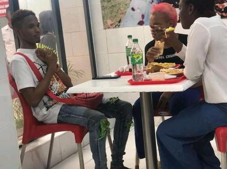 Reactions On Photo Of A Man Staring At Two Ladies Enjoying A Meal Before Him