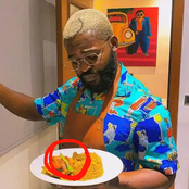 See what was spotted on falz the bad guy's food