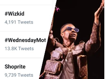 Wizkid is trending on Twitter, see the reason behind his latest trend.