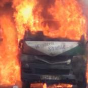 'Western Shuttle' PSV Matatu Spotted Burning In Frames
