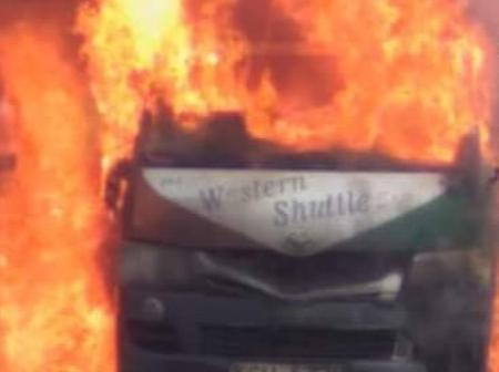 'Western Shuttle' PSV Matatu Spotted Burning In Frames