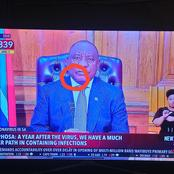 See what People Saw As the President Cyril Ramaphosa Was Addressing the Nation Today (Opinion)