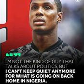"""""""No One Should Play For Nigeria National Team Again"""";Fans Reacts To Ighalo's Words On Lekki Killings"""