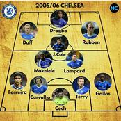 Chelsea, Everton And Newcastle's 2005/06 Premier League Team