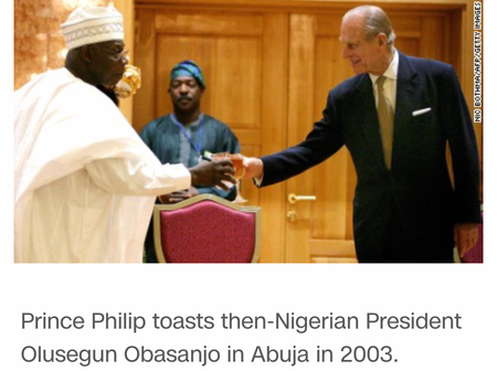 What Prince Philip Said to Obasanjo back in 2003 that Got Nigerians Angry