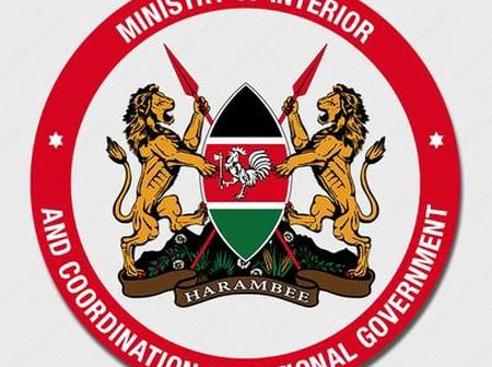 Ministry of Interior and Coordination of National Government to Auction Vehicles