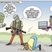 This Cartoon About Bandits & Yahoo Boys Has A Deeper Meaning, See What People Are Saying About It