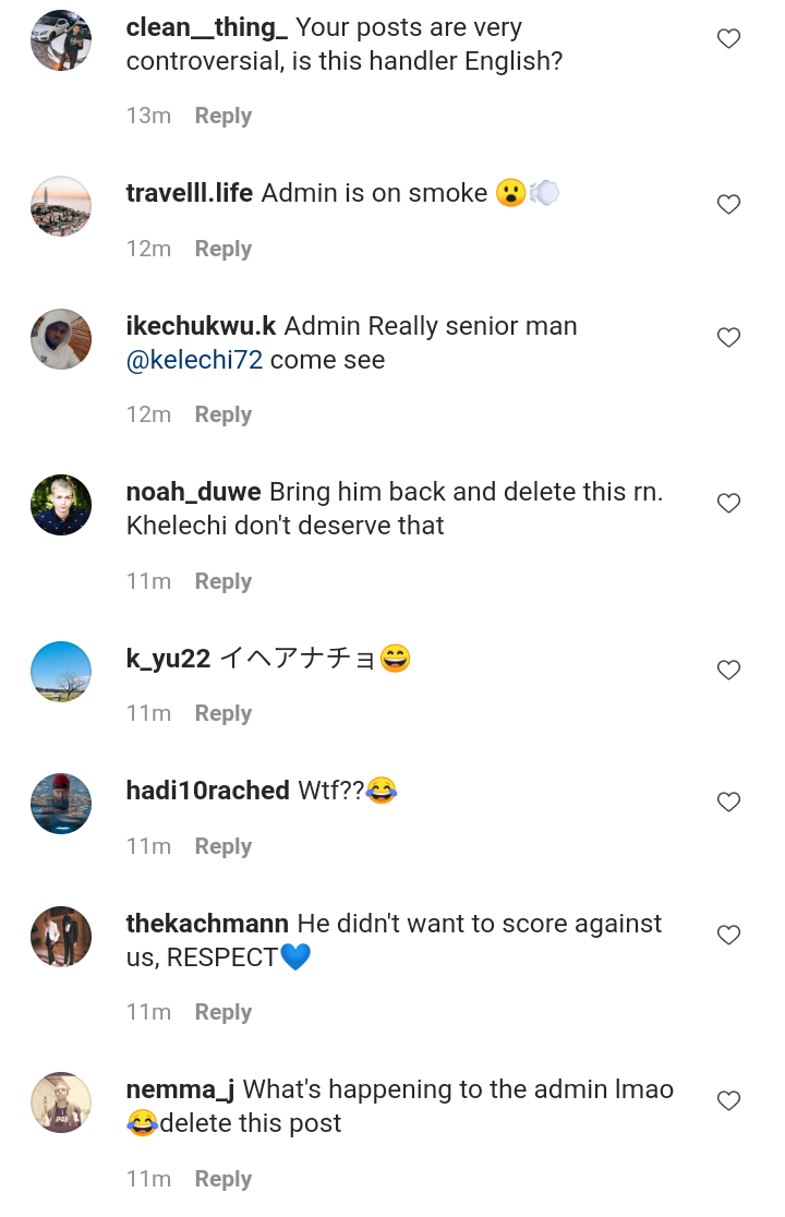 Fans blast Man City Admin for posting a demeaning video of Kelechi Iheanacho