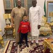 Femi Kayode and son has been spotted having fun as child custody battle with estranged wife looms