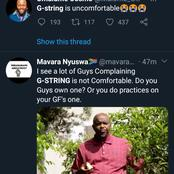 Twitter is in Disbelief After a Gentleman Said, G-string it's Uncomfortable.