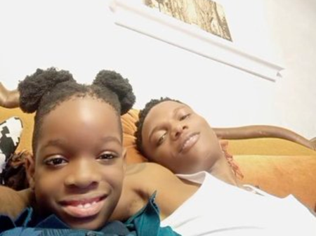 See Recent Pictures Of Wizkid With His Son, Boluwatife, That Wowed His Fans