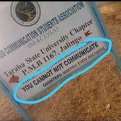 Checkout The Confusing Sentence Which Was Written On A Signboard That Is Causing Reactions