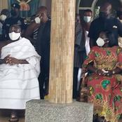 Otumfour, wife and other Ashanti chiefs get COVID-19 vaccination at Manhyia Palace - See Photos