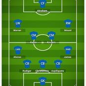 How Chelsea could Lineup against Liverpool and break their defense line.