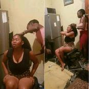 The reason why I don't do my hair, See the lady cries out after doing her hair is very painful