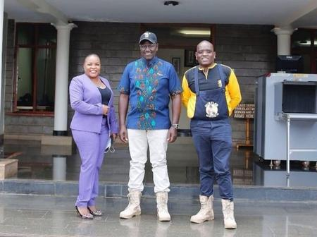 DP Ruto Comes Out In 'Cheap' Ksh3500 Army Boots As He Matches Footwear With Dennis Itumbi