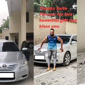 Singer, Flavour surprises his childhood friend with a car
