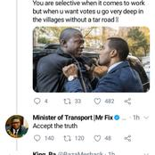 Fikile Mbalula gets into war on twitter over what people told him