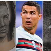 """""""Find Me This Barber""""- Reactions As A Barber Drew Cristiano Ronaldo On The Head Of His Customer"""