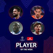 Olivier Giroud, Lukaku and 2 others nominated for UCL player of the week (Match week 5)