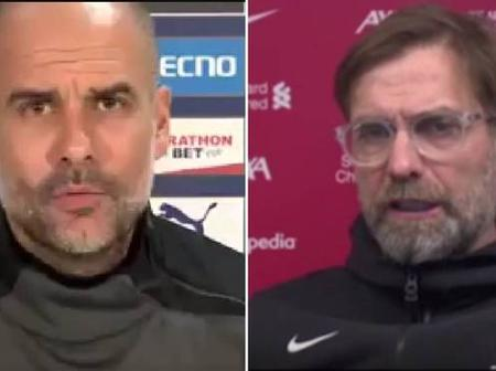Guardiola Hits Back at Klopp on His Recent Comments