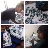 Lady re-uses Savana plastics waste to make beautiful bags