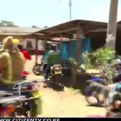 Residents Of Mweiga On Street Demanding Justice Over The Murder Of Businessman