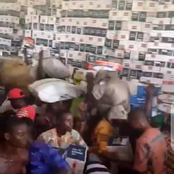 After they found money in a Coffin, See what Youth found in another warehouse In Osun state.