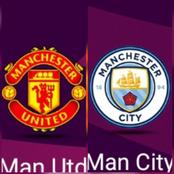 Manchester United Vs Manchester City head-to-head records (last five matches)