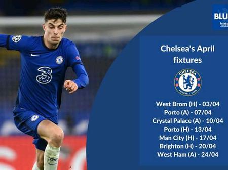 2020-2021: Chelsea's Complete April Fixtures In All Competitions