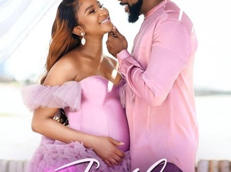 Good News As Adesuwa Etomi And Banky W Announces The Arrival Of Their New Baby, See Pictures