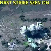 Nigeria Military : See how Air force dropped bombs on ISWAP terrorists in Marte Town (Watch video)