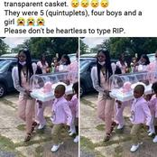See Quintuplet Kids In Tears As They Carry Their Only Dead Sister During Her Burial ceremony