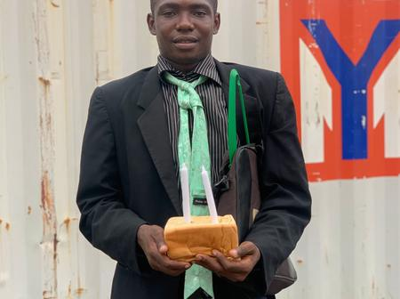 Meet The Young Man Who Celebrates His Birthday With A Bread And Two Candles