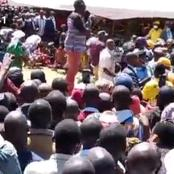 Ruto Brings Businesses In Trans-Nzoia To A Standstill, Received By A Mammoth Crowd Of Hustlers