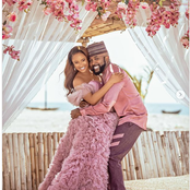 Double joy as Banky W and wife Adesua welcome baby Zaiah.